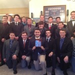 2015 Sig Eps with their 20th anniversary commemorative plaque from the RABC